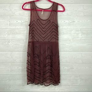 Free People Sequin Dress Layering Piece